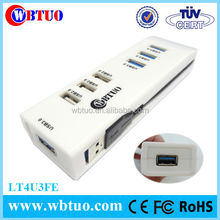 Hot sale 3 port usb 3.0 hub combo RJ45 ethernet adaptor