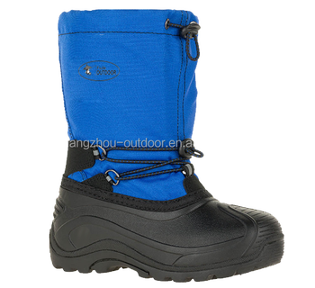 Children snow boots for removable liner