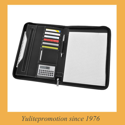 2016 stylish file folder,portfolio,padfolio,zipper folder