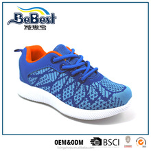 2017 new design woven fabric EVA outsole kids sneakers children running shoes