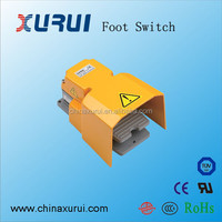 metal push button switch / wireless ac 15a 250v aluminium alloy foot switch / mechanical press foot switch manufacturer