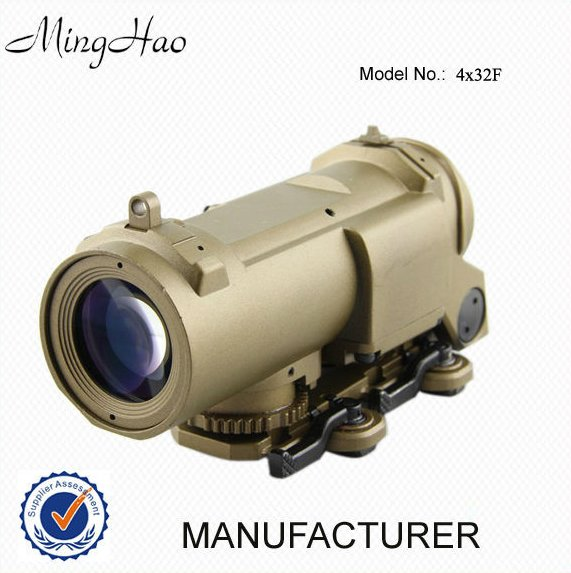 Airsoft Fixed Red Dot Illuminated Optical Scope with Quick Detach