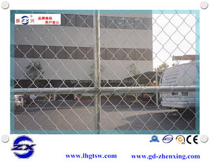 Professional factory supplying green decorative chain link garden fence