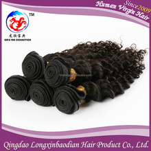 Free shipping Deep Wave natural Hair Weaving Extensions Cuticle Remy Virgin Indian human Hair afro Wavy