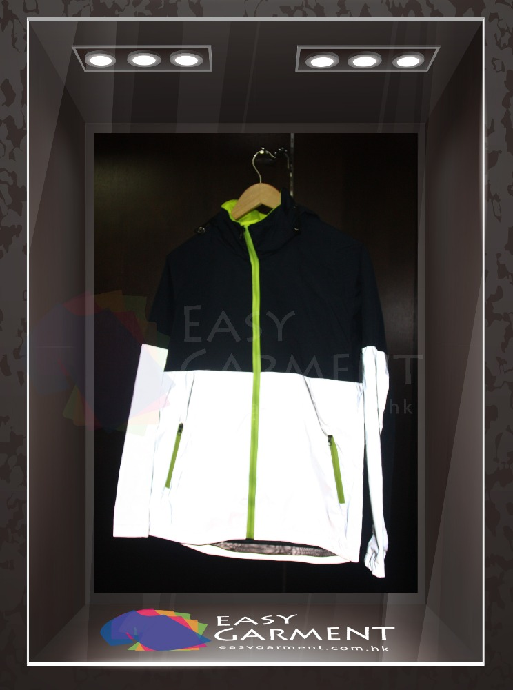 Custom Fashionable OEM Service Winter Plain Dyed Canvas Safety 3M Reflective Jacket