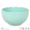 customized light blue color glazed rice serving bowl