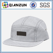 Coustom-made acrilyc stripeed 5 panel cap wholesale