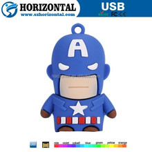 Alibaba wholesale hottest 3D PVC cartoon character usb flash drive for promotion gift