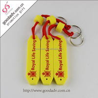 Guangzhou factory cheap price waterproof soft EVA key tags high quality floating key chains