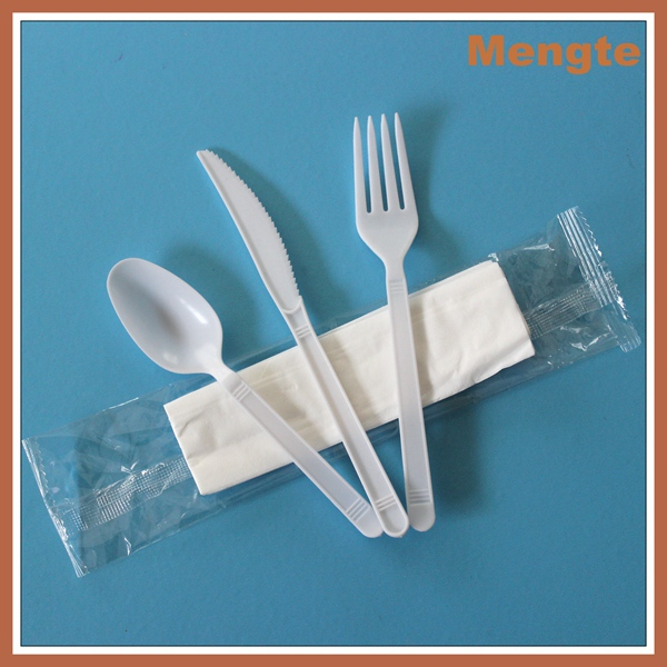 wholesale plastic cutlery/plastic disposable handle cutlery set