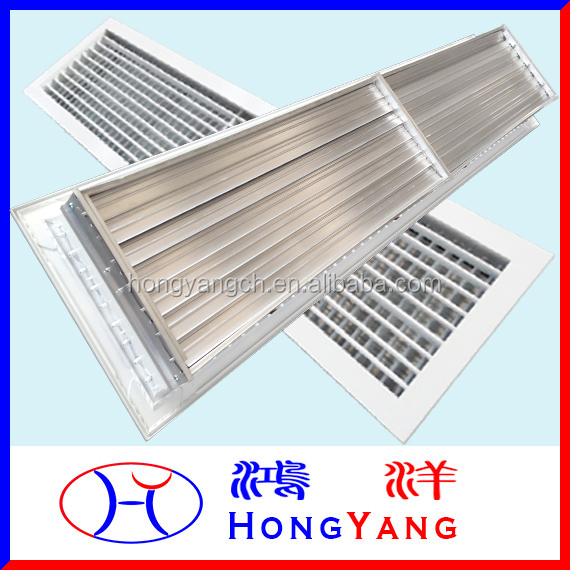 Double Deflection Supply Air Grille with Opposed Blade Damper