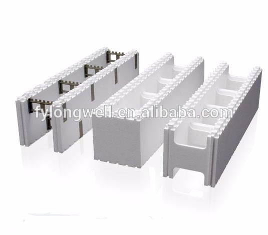 New building material eps foam construction blocks icf for Foam block concrete forms