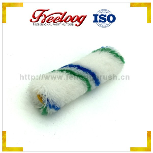 Green and blue lines paint roller