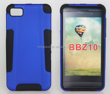 wholesale hybrid PC+silicone case for Blackberry Z10