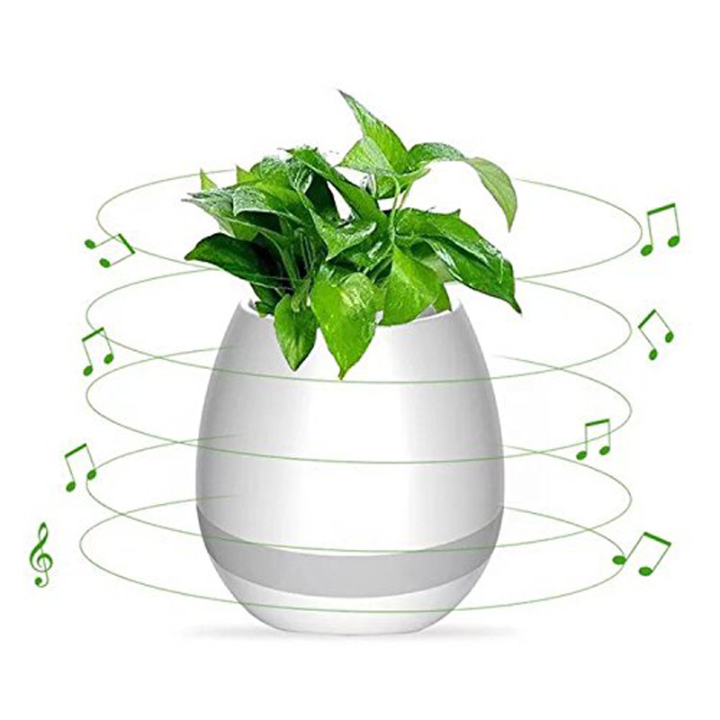 Bluetooth Speaker Colorful Night Light Music Flower Pot Waterproof