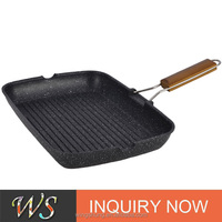 WS-DA014 High Quality Die-casting Non-stick Grill Pan