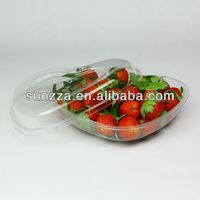 Food grade material transparent/clear plastic fruit packaging box/container for strawberry /blueberry/cherry