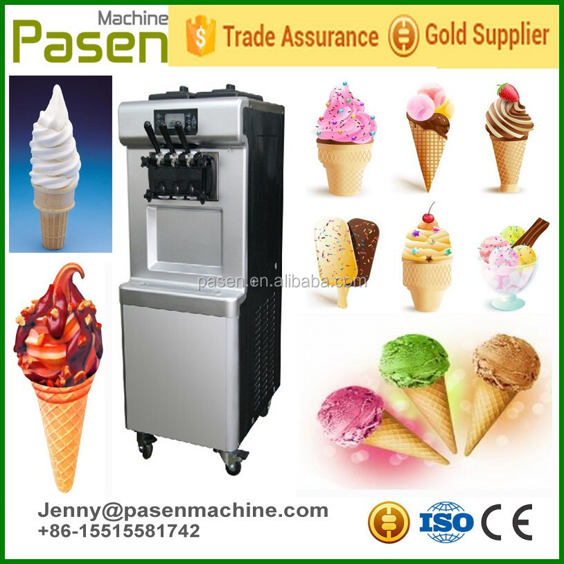 liquid nitrogen ice cream machine / commercial ice cream making machine / ice cream machine soft serve