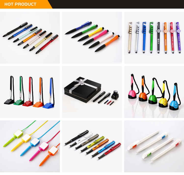 Promotional Items China Custom Brand Logo Creative Bank Desk Counter Gel Pen