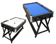 high quality rotating 2 in 1 Pool Table with Air hockey table