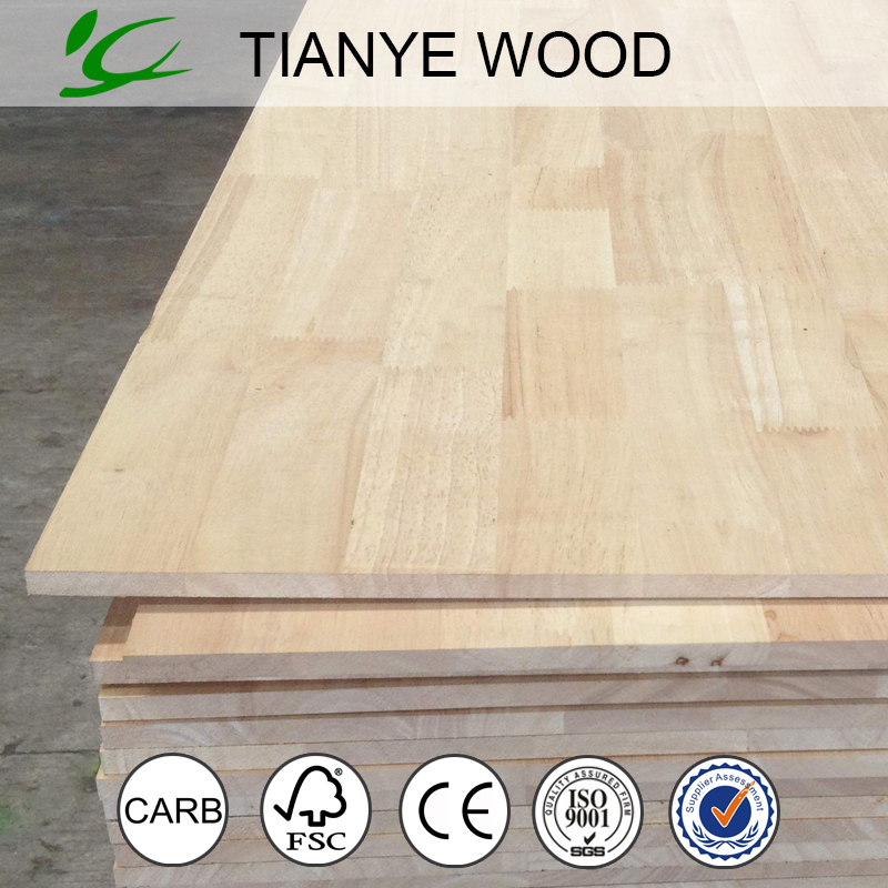 Malaysia rubber wood finger joint laminated board,melamine rubber wood