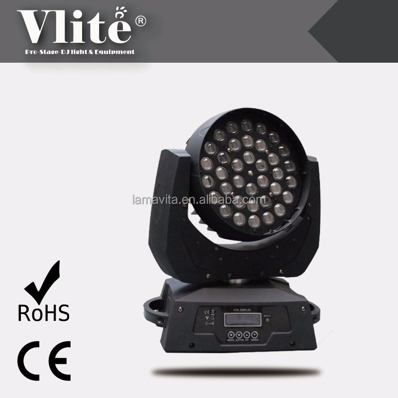 Classical Style Zoom Wash 36 10W Quad LED Light Moving Head RGBW