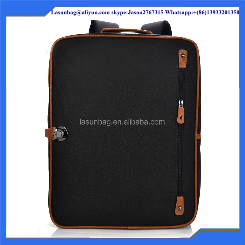 New Black Canvas Rucksack Fashion Male Day Backpack High School Bags