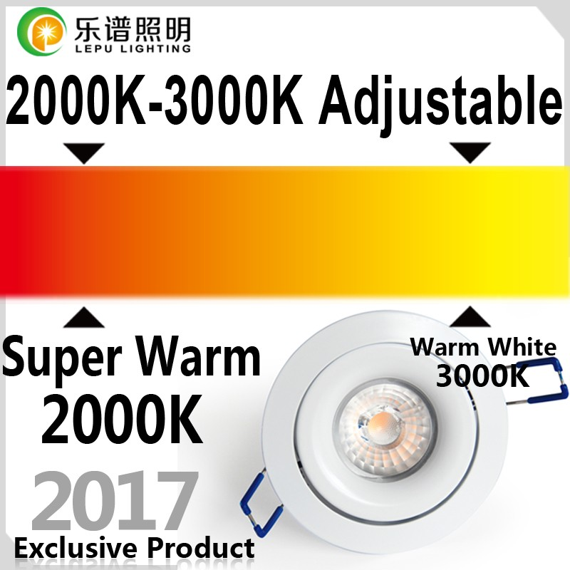 2000k to 3000k dimmable 8w 13w recessed led downlight design for Switzerland 5 years warranty with 5second fast install