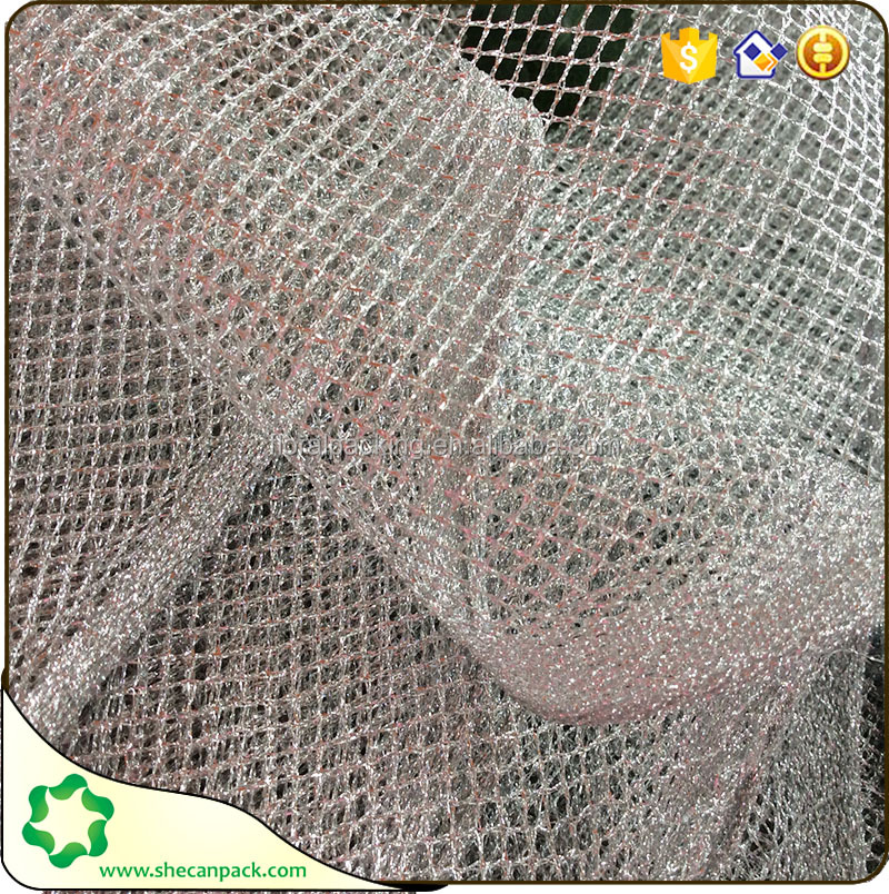 SHECAN cheap gold metallic mesh fabric for clothing shoes decoration