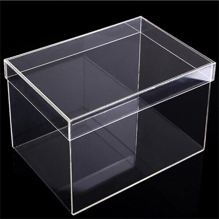 High Quality Acrylic Crystal Sliding Shoe Box With Air Hole Storage Bins