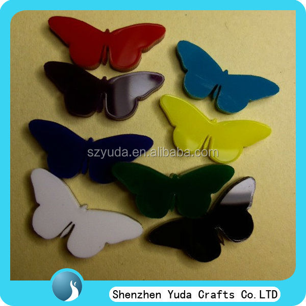 beautiful design acrylic laser cut butterflies for toys gift souvenir keychain wall house decoration