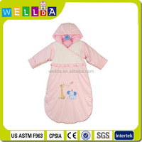 2014 bright color animal shaped cotton children sleeping bag