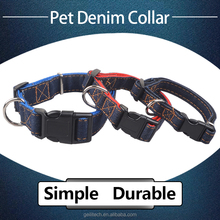 Chinese factory directly supply pet products simple fashion durable denim dog collar