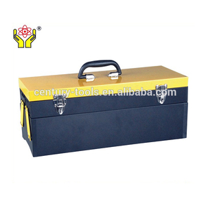 Double handles two layers folding iron toolbox/19 inch Metal tool box with 2 layer 3 tray double handle
