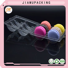 fantanstic clear PET clamshell macarons blister packaging for six cells