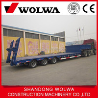 Lowboy Semi Trailer For Transporting Excavator