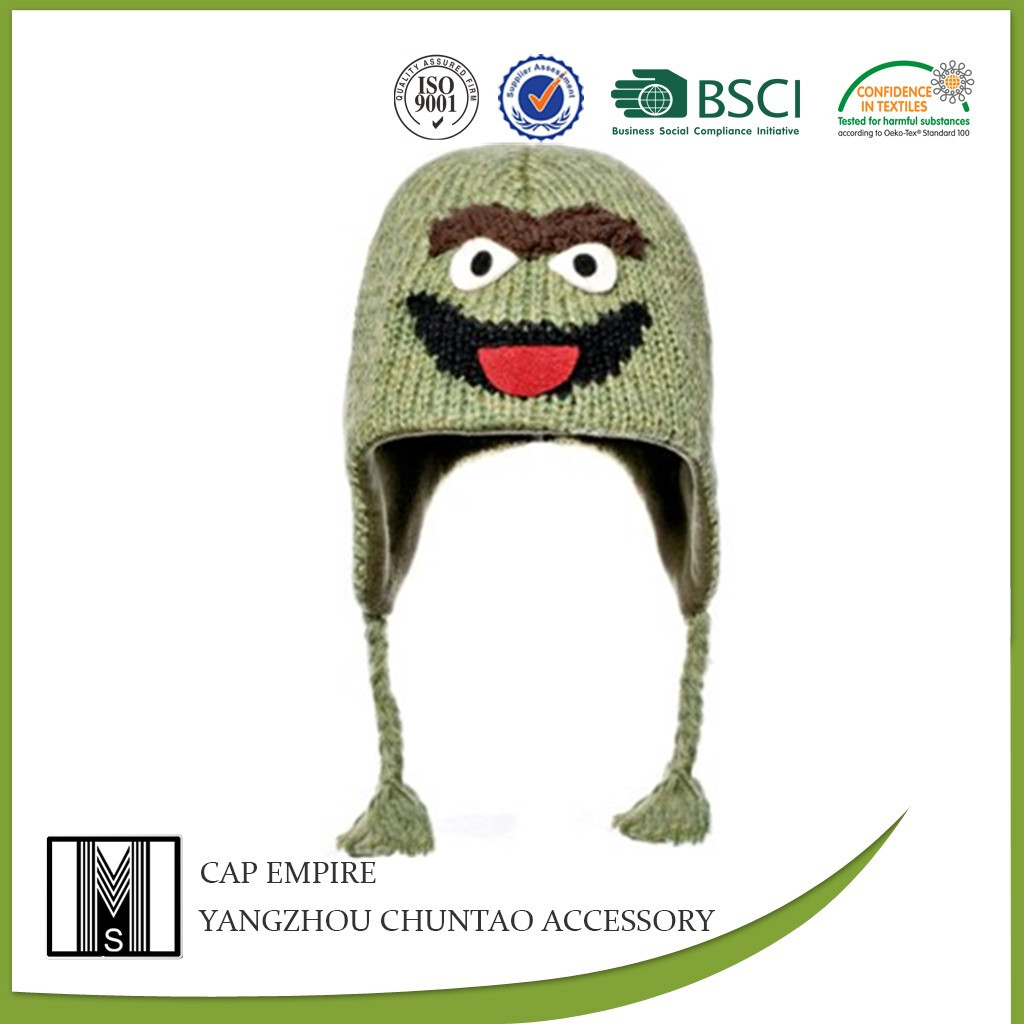 Kid's animal knitted hat with earflap