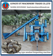 (Biomass briquette machine) Round stick wood screw briquetting press