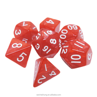 Inventory color side marble dice set, game polyhedral dice