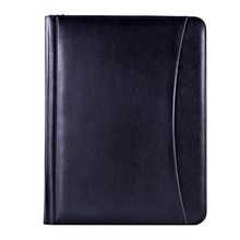 a4 pu leather zippered business portfolio conference file folder cover a5 case bag organizer agenda manufacture gift set