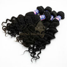100% Malaysian virgin hair weave natural color pound hair loose wave