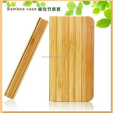 bamboo wood book style case for apple iphone 5 5s flip case