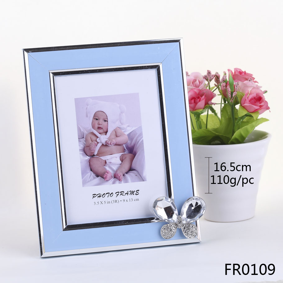 5x7 acrylic photo frame cheap picture frame with big clear crystal