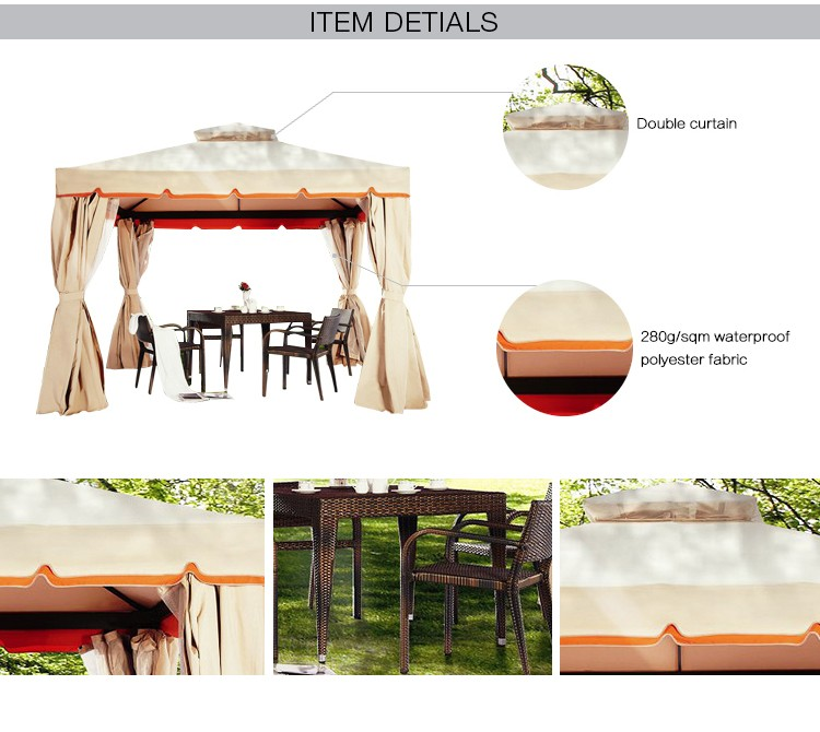 Chinese Supplier High Quality Balcony Gazebo,Garden Gazebo With Mosquito Netting
