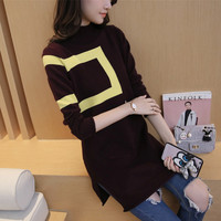 ZH0733C women blended pullover knit 100% cashmere sweater