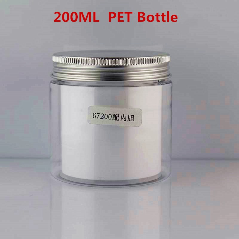 plastic jar aluminum top cap pet ice cream jar with food grade beard balm tin