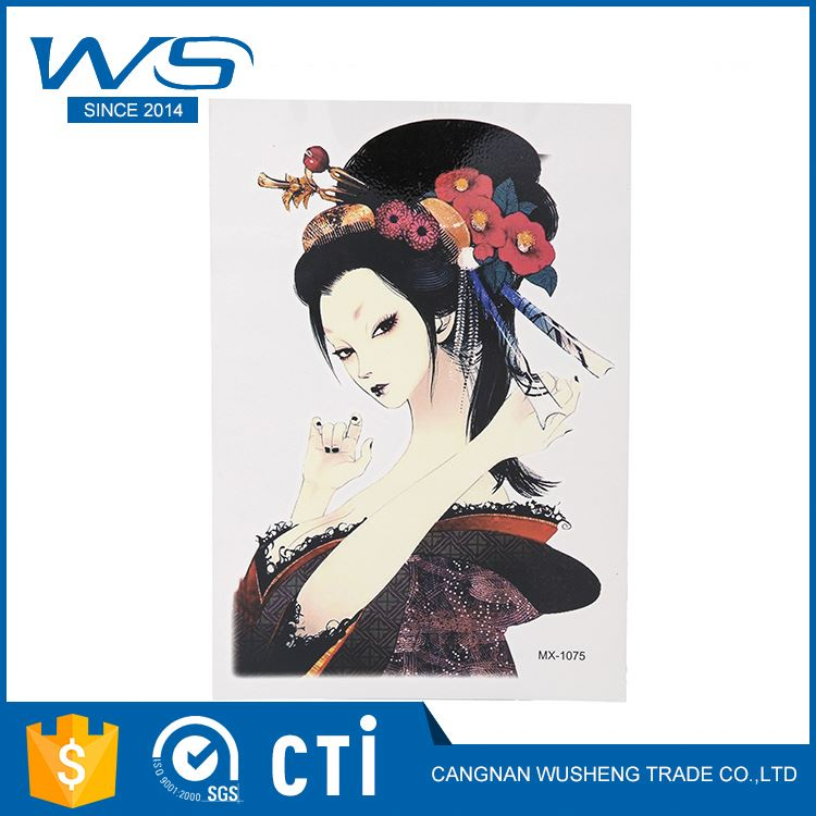 New products OEM design body metallic sticker hand temporary tattoo