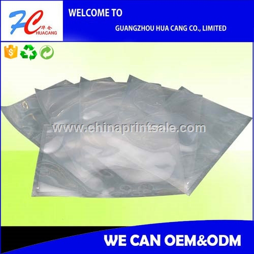 Top quality printed vacuum bag with zip lock