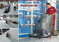 GM85BT 24V DC self driving 1300W 75L tank floor cleaning equipment for hospital
