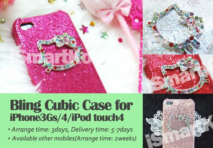 Bling Cubic Case for iPhone for iPad for Galaxy accessory-High Quality Alloy&Rhinestone Skull,Mouse,Kitty,Bear,Cross,Rabbit